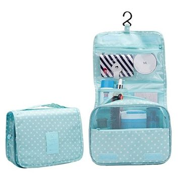 Hanging Toiletry Bag,SMYTShop Multifunction Cosmetic Bag Portable Makeup Pouch Waterproof Travel Hanging Organizer Bag for Women Girls