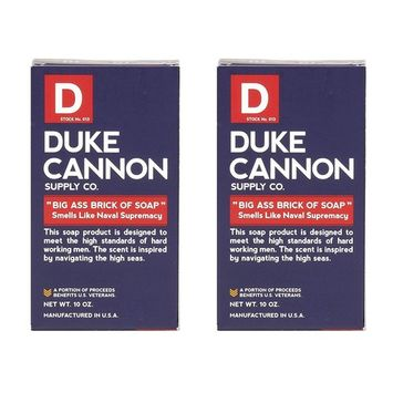 Duke Cannon Naval Supremacy Big Ass Bar of Soap for Men (Pack of 2)