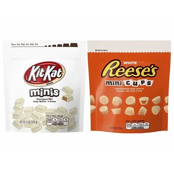 Assorted White Chocolate Mini Pouch Bundle of Kit Kat, Reese's 2 Pack (1 of EA)