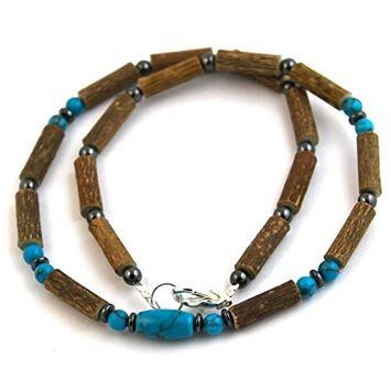 Hazelaid (TM) Adult Hazelwood-Gemstone Necklace - 16