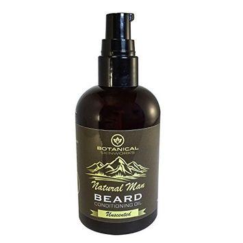 Botanical Skin Works Natural Man Bay Lime Beard Oil, All Natural Beard Conditioner, 4 oz. [Bay Lime]
