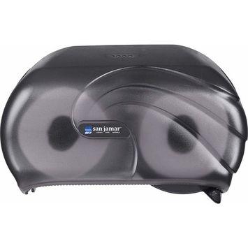 San Jamar R3690TBK Versatwin Double Roll Toilet Tissue Dispenser with Bio Pruf, Oceans, Black Pearl [Oceans]