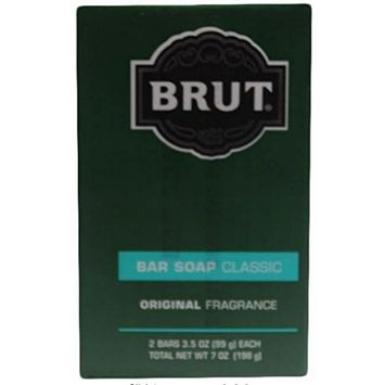 Brut Bar Soap Classic, Original Fragrance, 3.5 Ounce, 2 Count (Pack of 12)