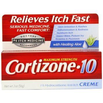 Cortizone-10 Max Strength Cortizone-10 Crme, 2 Ounce Box (Pack of 3)