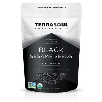 Terrasoul Superfoods Organic Raw Black Sesame Seeds, 2.0 Lb