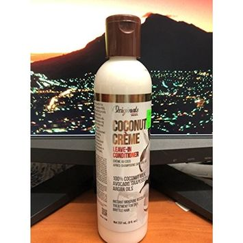 Africa's Best Originals Coconut Creme Leave - in Conditioner 100% Pure Coconut Milk, Avocado, Grapeseed and argan oils (8oz)