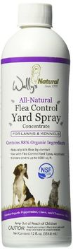 All-Natural Flea Control Yard Spray, Concentrate 12 Oz by Wallys Natural Products