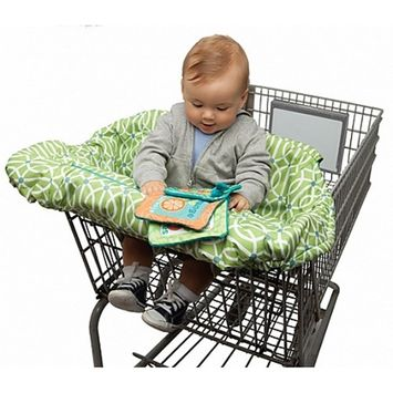 Boppy Shopping Cart Cover | Plush Cushy Canopy And High Chair Cover | 2-in-1 Multi-Purpose Unisex Design for Boy or Girl | Machine Washable Germ Resistant