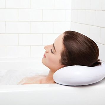 BEST BATH PILLOW Spa pillows with Suction Cups - Extra Firm and Best Quality - Supports Your Neck, Body & Head Perfectly - Fits All Hot Tub, Whirlpool, Jacuzzi & Standard Tubs - Great Baby Gifts!