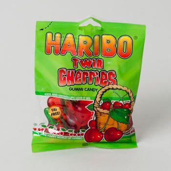 Dollaritemdirect GUMMI CANDY HARIBO TWIN CHERRIES 4OZ BAG, Case Pack of 12
