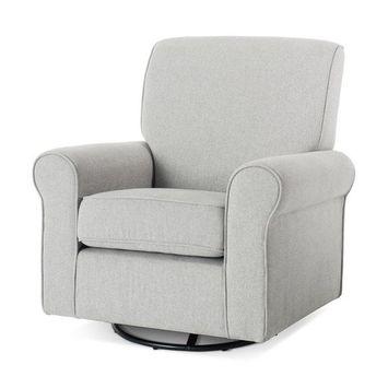 Forever Eclectic™ Serene Upholstered Glider, Flecked Gray