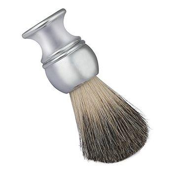 Men's Shaving Brushes, Bestpriceam Luxury 100% Pure Badger Hair Shaving Brush Alloy Handle Best Shave Barber (Silver B)