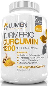 Lumen Naturals Turmeric Curcumin Super Strength 1200mg with 95% Curcuminoids - Powerful Anti Inflammatory - 120 Cap