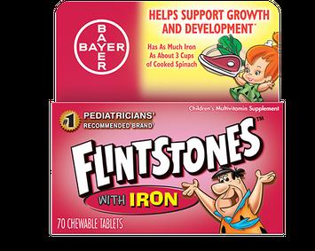 Flintstones™ Plus Iron Chewable Multivitamin