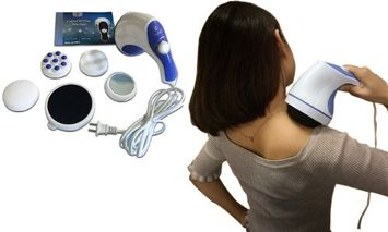 Yphone Tone Massager 4 Variable Attachments To Relieve Pains Stiffness & Fatigue Shoulders Feet
