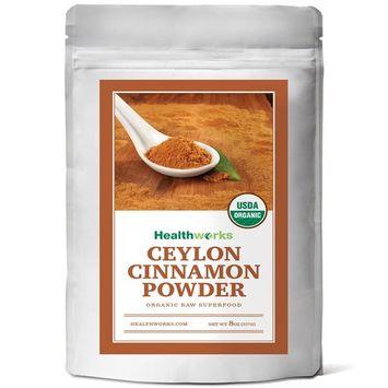 Healthworks Ceylon Cinnamon Powder Raw Organic, 8oz