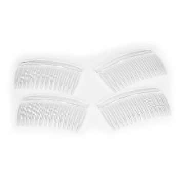 Crystal Clear Multipurpose Hair Combs - Set of Four (4)