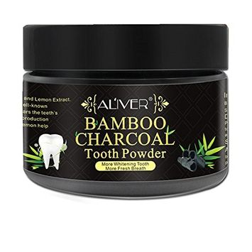 Activated Charcoal Teeth Whitening Powder, Fluoride-free Natural Bamboo Charcoal Teeth Whitener of Organic Coconut Shells with Peppermint Flavor for Removing Tooth Stains, No Sensitivity for Gum