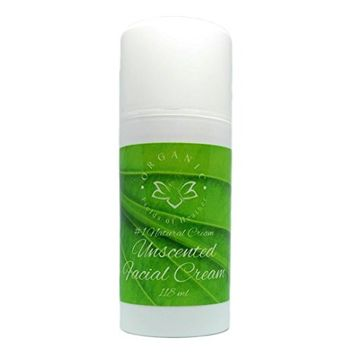 Organic Fields of Heather Organic & Natural No Scent Added Facial Moisturizer With Botanically Infused Ingredients, 4.0 fl. Oz
