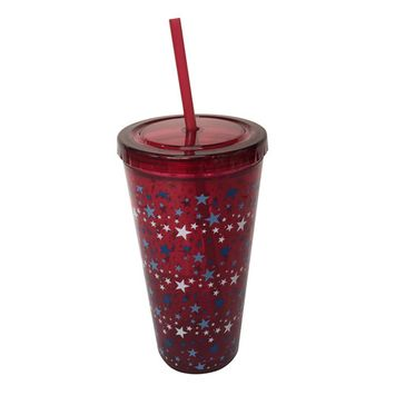 Essential Home 22oz. Hydration Tumbler With Straw – Stars