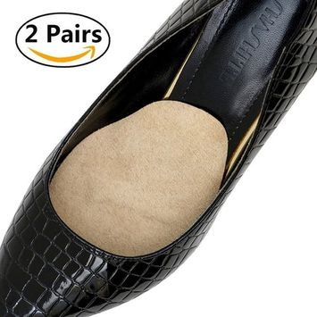 Beautulip Ball of Foot Cushions Forefoot Metatarsal Pain Relief Soft PU Gel and Fabric Inserts Massage Insole - 2 Pairs
