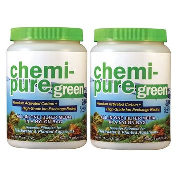 (2 Pack) Boyd Chemi-Pure Green 11 oz Aquarium Treatment: Beauty
