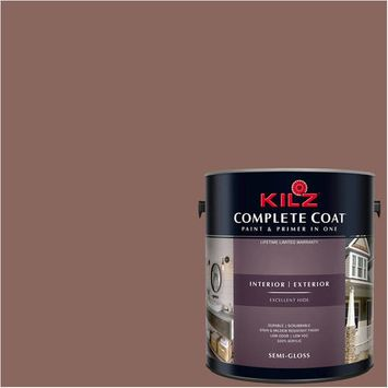 KILZ COMPLETE COAT Interior/Exterior Paint & Primer in One #LB290-01 Brown Chipotle