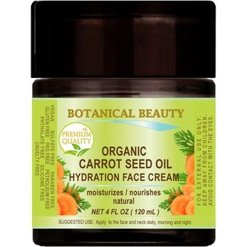 ORGANIC CARROT SEED OIL HYDRATION FACE CREAM. For NORMAL to DRY SKIN.