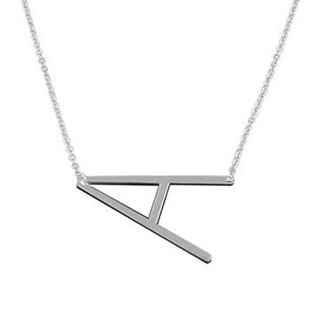 Necklace, Hatop Fashion Women Stainless Steel Big 26 Letter Necklaces Pendants Jewelry
