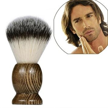 FTXJ Pure Badger Hair Mens Shaving Brush Striples Wood Handle Shave Barber
