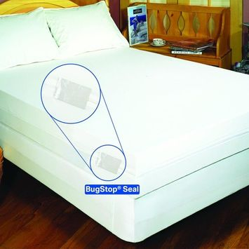 BedBug Solution Polyester Stretch Knit Zippered Boxspring Cover