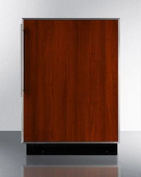 Summit BI605RFR 24 Built-in Compact Refrigerator with Adjustable Wire Shelves