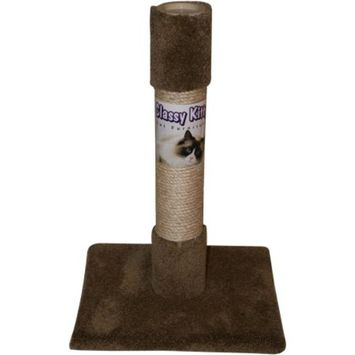Classy Kitty Decorator Post with Carpet and Sisal, 14