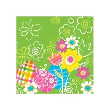 Hoppy Easter Bunny Beverage Napkins 18 Pack
