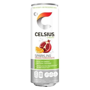 Celsius 5640044 12 fl oz Natural Sparkling Orange Pomegranate - 12 Per Box