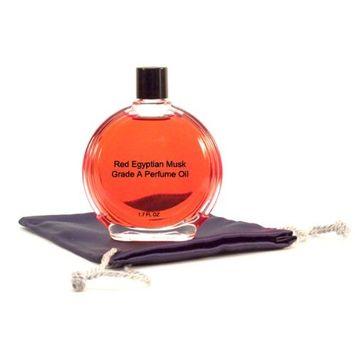 Red Egyptian Musk Perfume Oil - 1.7 oz in Premium Glass Bottle