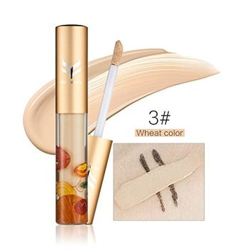 Pevor Liquid Concealer Makeup Smooth Highlighter Full Coverage For Dark Circle Freckles Specular Contour Makeup Glowing Looking Skin(1#Ivory, 2#Natural Color,3#Wheat Color)
