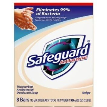 Safeguard Antibacterial Bar Soap, Beige 8-Count 4 oz. (Pack of 6) by Safeguard