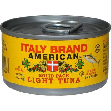 Italy Brand American Solid Pack Light Tuna in Pure Olive Oil, 3 Ounce (Pack of 24)