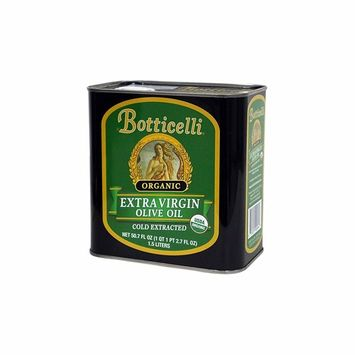 Botticelli Organic Extra Virgin Olive Oil. Crafted From, Cold Extracted Organic Olives. Full Flavor and Rich Aroma. Great for Cooking, Sautéing, and Salad Dressing (50.7/1.5 liter)
