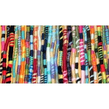 Surprise Colors Handmade Hippie Hair Extension, Qty: 1 Dreadlocks Hair Wrap Accessory, Dreads Hair Fall Colorful Accessories …