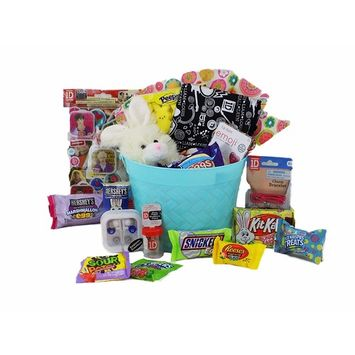 One Direction Easter 'Egg-citement' Candy Gift Basket for Tween / Teen Girls