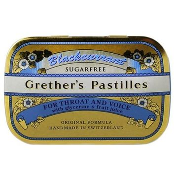 Sugarless Blackcurrant Pastilles Mini Case 20g pastilles by Grether's