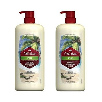 Spice Fresher Fiji Scent Body Wash for Men, 32 oz (Pack of 2)