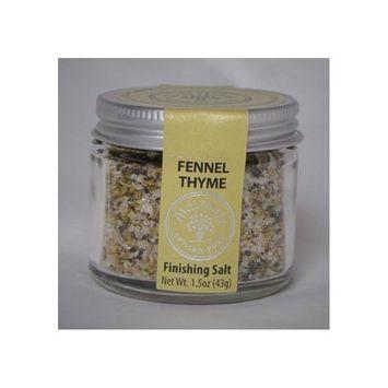 didi davis food Fennel Thyme Flavor, Gourmet Infused Sea Salt - 1.5 oz Net Wt.
