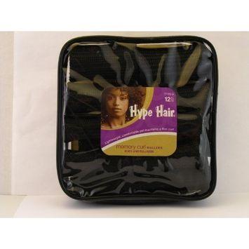 Hype Hair Memory Curl Hair Rollers - 12 Pcs.