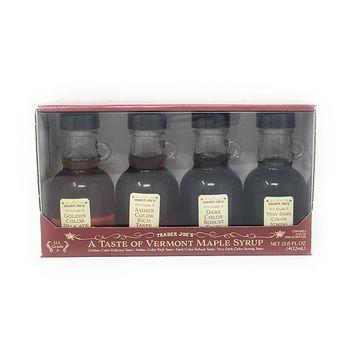 Trader Joe's A Taste of Vermont Maple Syrup Sampler (Four 3.4 Fl. Ounce Bottles)