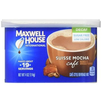 Maxwell House Decaf Suisse Mocha International Cafe (4oz Canister)