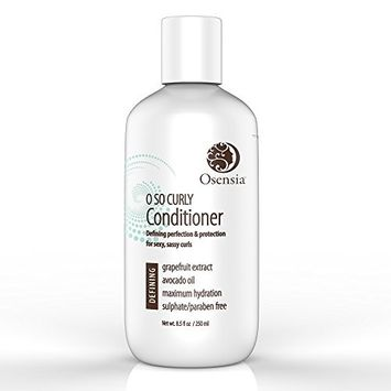 Curl Conditioner for Sexy Curls – Detangling Conditioner for Frizzy Hair – Paraben & Sulfate Free with Avocado & Grapefruit – Best Curly Hair Conditioner for Kids, Men, Women by Osensia 8.5oz