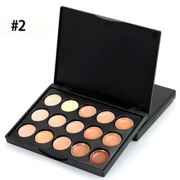 Bemas MIni 15 Colors Face Concealer Camouflage Cream Contour Palette